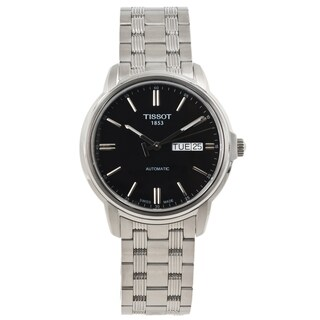Tissot Men's 'Automatics III' Black Dial Stainless Steel Watch
