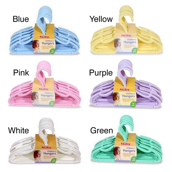 Nuby Children's Hangers (Pack of 10)