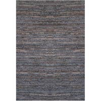 Handwoven Brown Leather Flatweave Rug - 8' x 11'