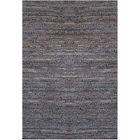 Handwoven Brown Leather Flatweave Rug - 6' x 9'