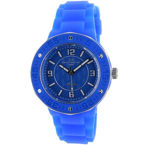 Oceanaut Women's Acqua Blue Rubber Strap Watch