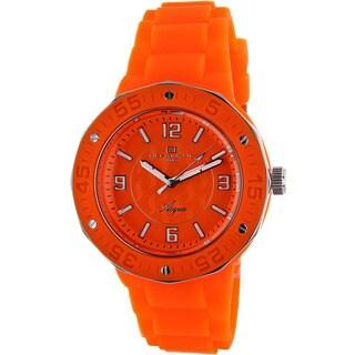 Oceanaut Women's Acqua Orange Rubber Strap Watch