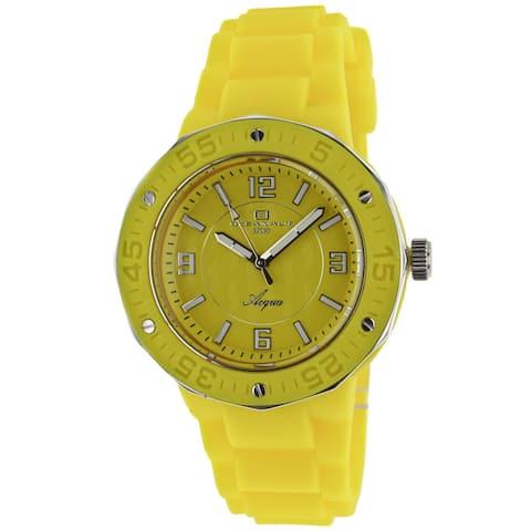 Oceanaut Women's Acqua Yellow Rubber Strap Watch