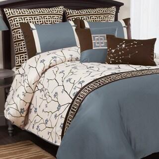Lush Decor Charisma 8-piece Blue Comforter Set