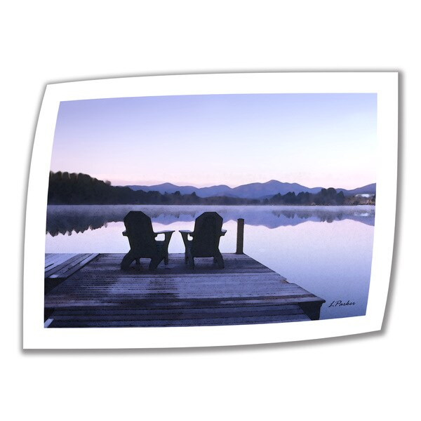 Linda Parker 'Mirror Lake, Lake Placid' Unwrapped Canvas