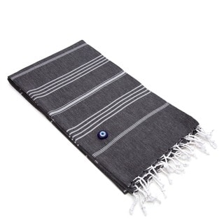 Link to Authentic Fouta Black Charcoal Turkish Cotton Bath/ Beach Towel Similar Items in Towels