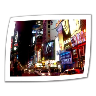 Linda Parker 'NYC Bright Lights Broadway' Unwrapped Canvas