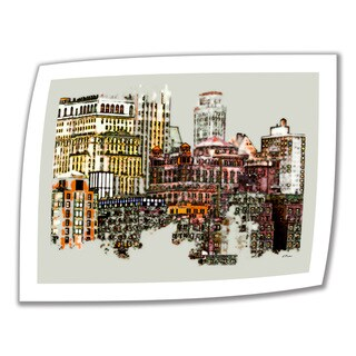 Linda Parker 'NYC Manhattan Cluster' Unwrapped Canvas