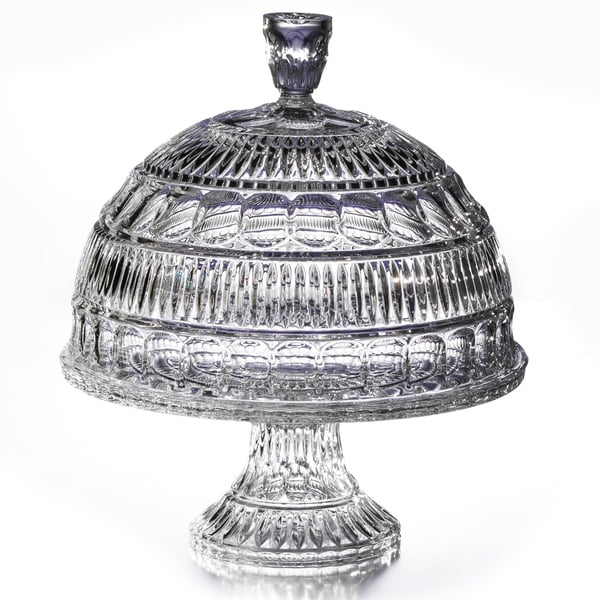 Fifth Avenue Crystal Princeton Crystalline Pedestal Cake Plate with Dome Lid