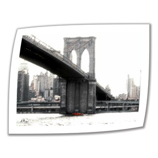 Linda Parker 'NYC's Brooklyn Bridge' Unwrapped Canvas