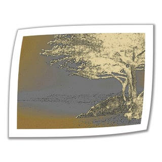 Linda Parker 'Tree on Beach' Unwrapped Canvas - Multi