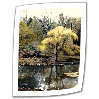 Linda Parker 'Spring, Central Park' Unwrapped Canvas