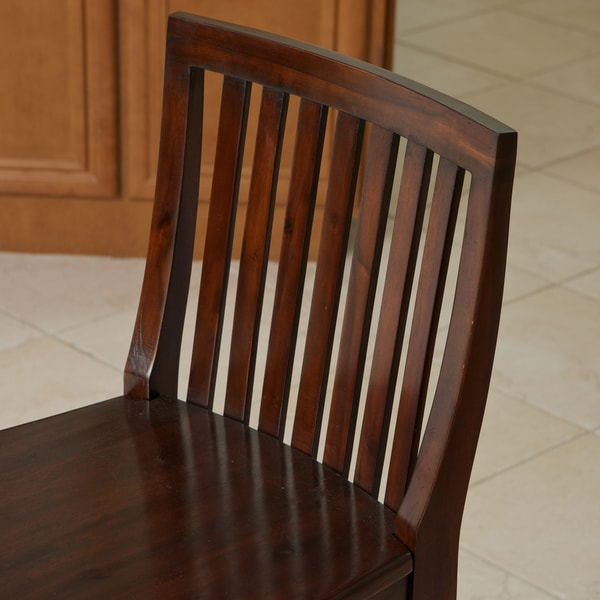 Victoria Acacia Wood Barstool by Christopher Knight Home