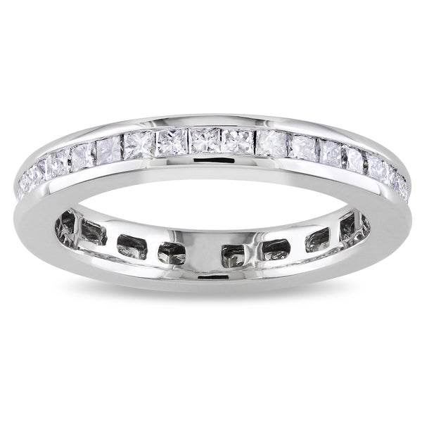 Miadora Signature Collection 14k White Gold 1ct TDW Diamond Eternity Ring (G-H, SI1-SI2)