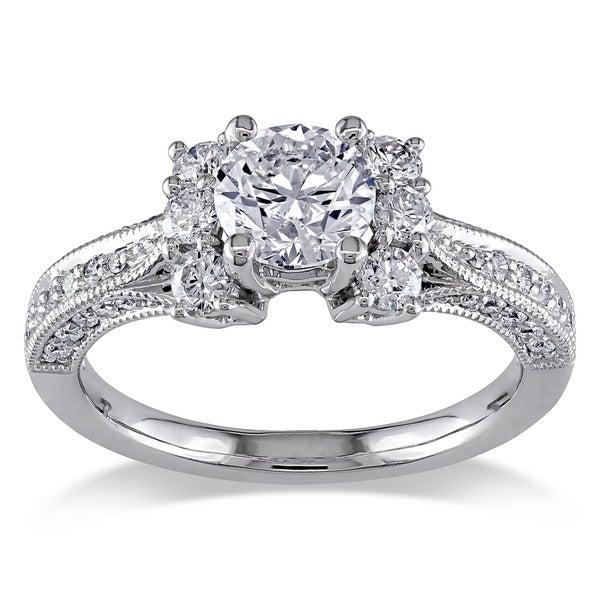 Miadora Signature Collection 14k White Gold 1 3/5ct TDW Diamond Ring (G-H, I1-I2)