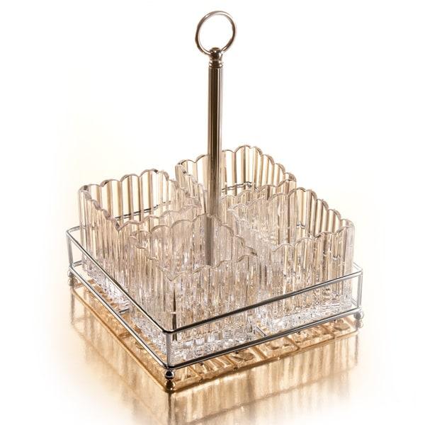 Crystal Clear Alexandria Crystalline Display Table Caddy
