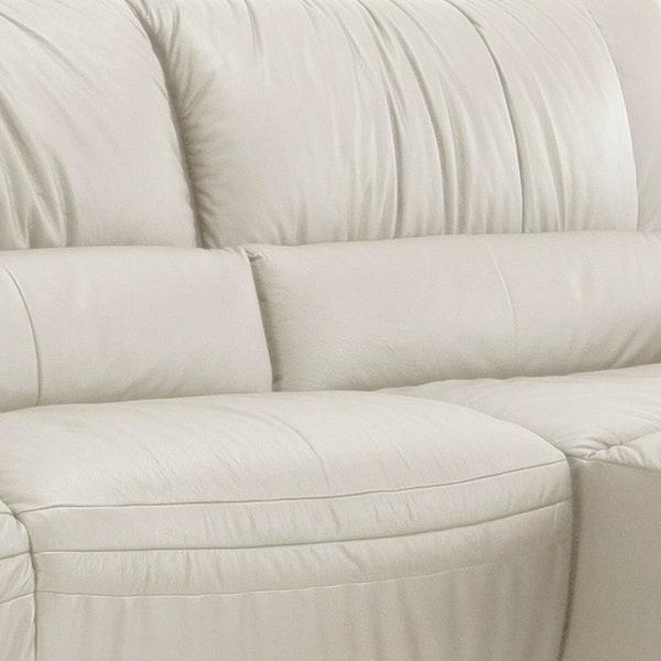 Terrific Shop Giovanni White Italian Leather Sectional Sofa Free Customarchery Wood Chair Design Ideas Customarcherynet