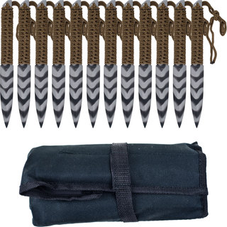 Stripeger Kunai 12-piece Throwing Knife Set