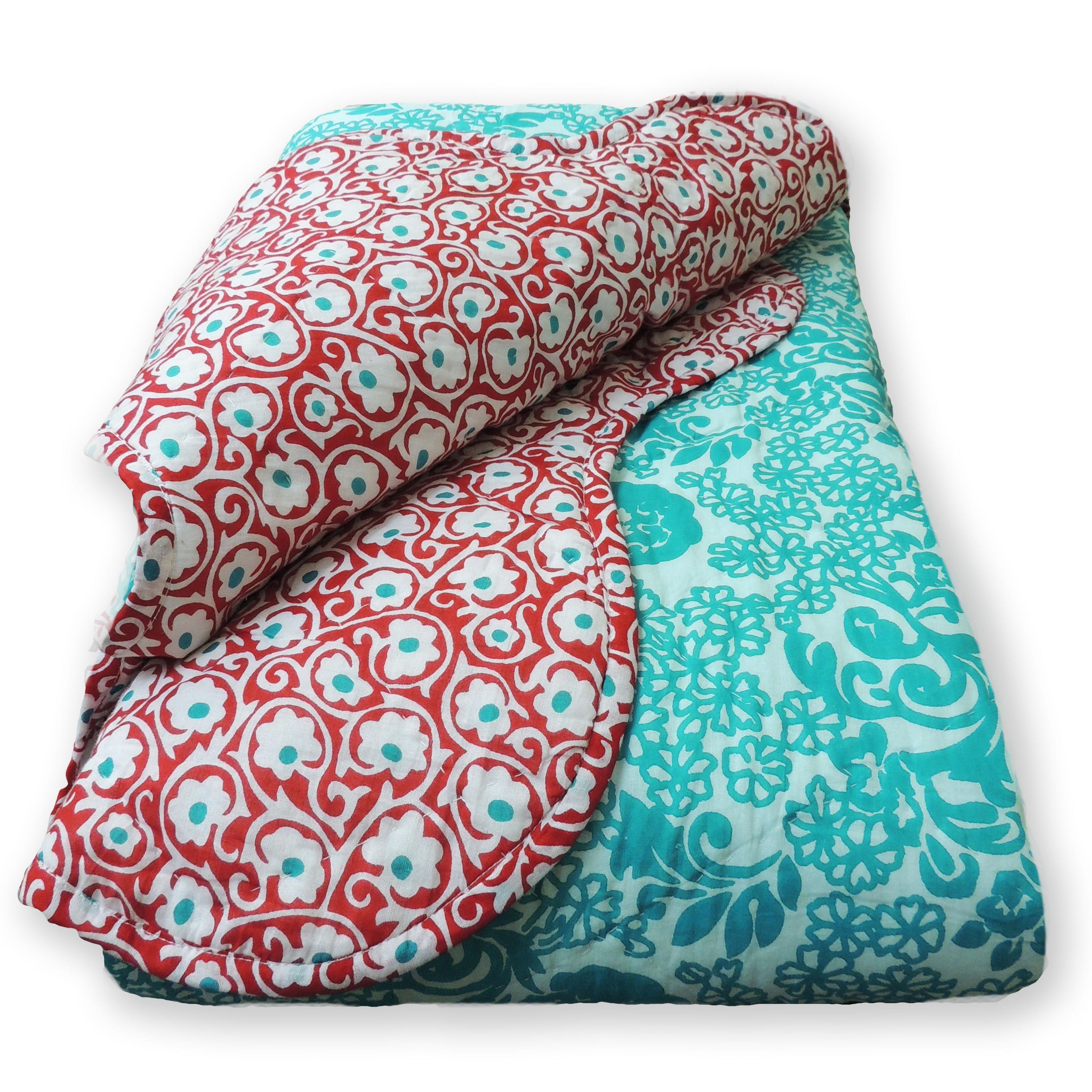 Cottage Home Ilda 3-piece Quilt Set (Queen), Blue teal (C...