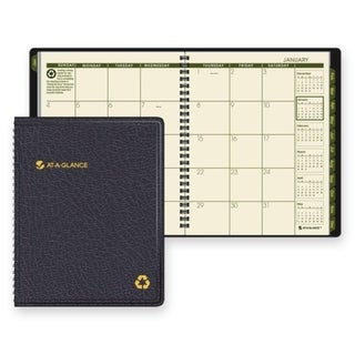 Black 2015 Recycled Monthly Planner (6.875 x 8.75)