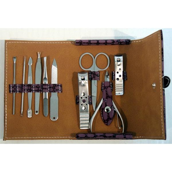Purple Case 10-piece Manicure Kit