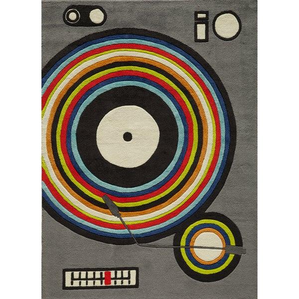 Momeni 'Lil Mo Hipster DJ Grey Rug (8' x 10')