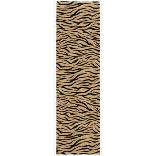 Cosmopolitan Beige Tiger Print Runner Rug (2'3 x 8')
