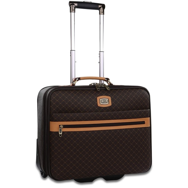 Rioni Signature Designer Rolling Carry On Laptop Briefcase