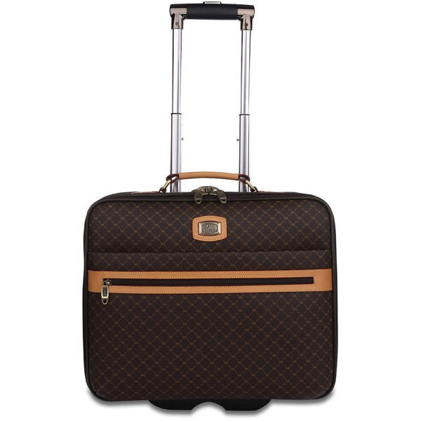 Rioni Signature Designer Rolling Carry On Laptop Briefcase - Free ...