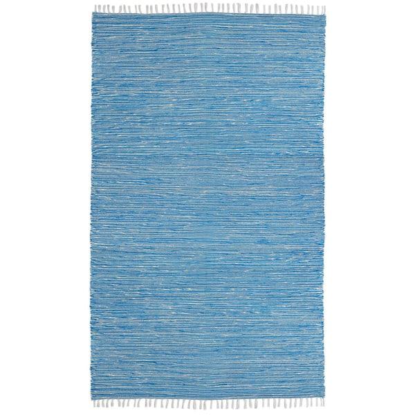 Aqua Reverisble Chenille Flatweave Rug - 8' x 10'