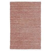 Handmade Copper Reverisble Chenille Flatweave Rug (8' x 10') - 8' x 10'