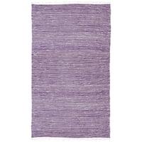 Handmade Purple Reversible Chenille Flatweave Rug - 8' x 10'