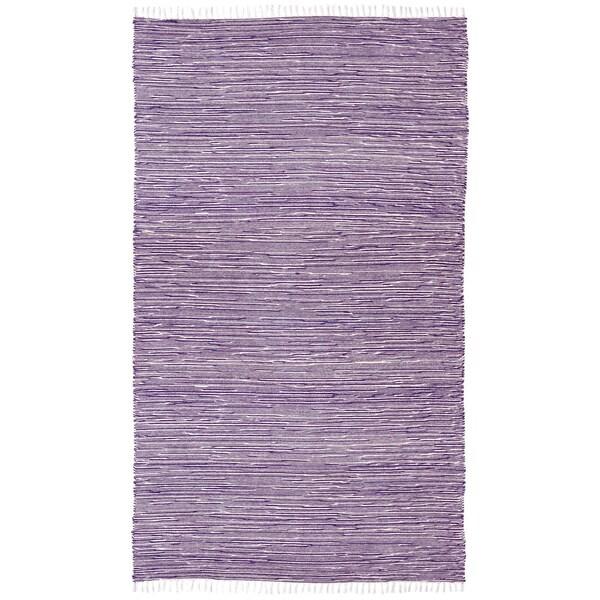 Handmade Purple Reversible Chenille Flatweave Rug (8' x 10')