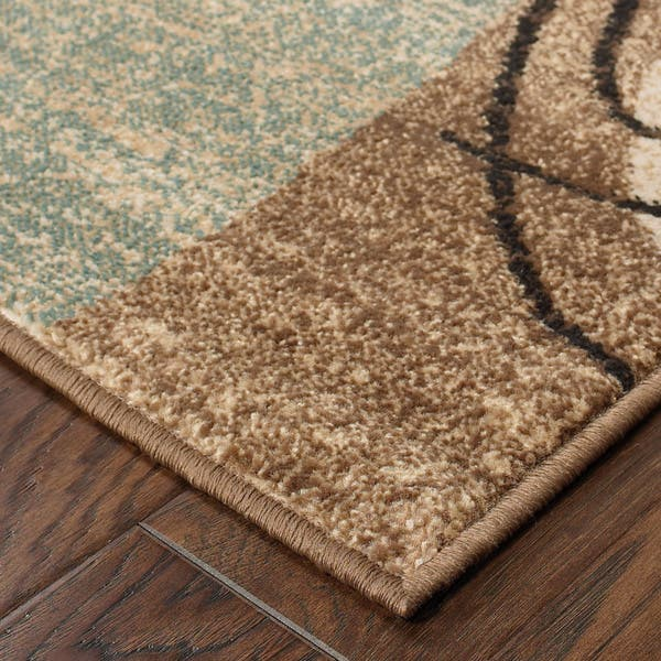 Gold And Brown Area Rug 10 X 13