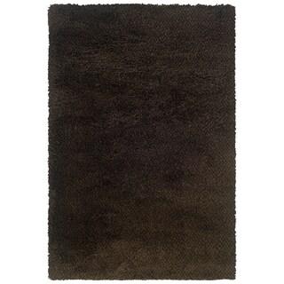Brown And Black Shag Area Rug (9u002710 X 12u00277)