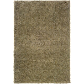 Blue and Gold Shag Area Rug (9'10 x 12'7)