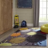 Momeni Lil Mo Hipster Grey Paint Splash Hand-Tufted Rug - 3' x 5'