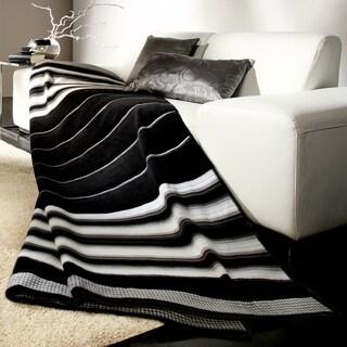 Bocasa Black Stripe Woven Throw Blanket