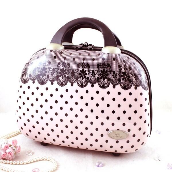 Jacki Design Polka Dot Romance Travel Beauty Case