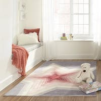 Momeni Lil Mo Hipster Lilac Superstar Hand-Tufted Rug (4' X 6') - 4' x 6'