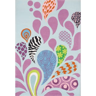Momeni 'Lil Mo Hipster Funky Blue Rug (8' x 10')