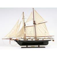 Old Modern Handicrafts Harvey Painted Model Ship
