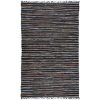 Hand-woven Matador Brown Leather Rug (9' x 12') - 9' x 12'