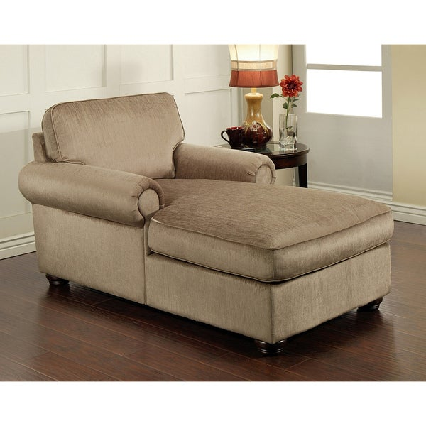 Shop Abbyson Living Chelsea Fabric Chaise Free Shipping