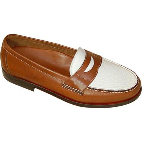 Men's David Spencer Shag Penny Loafer Tan Waxy/White Floater