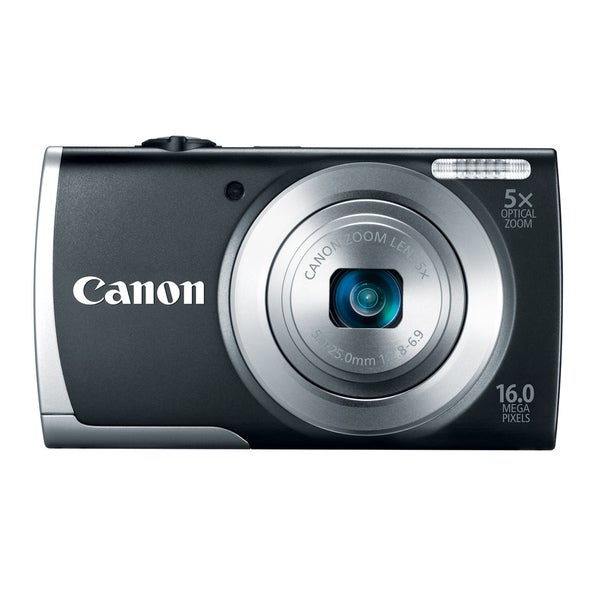 Canon PowerShot A2500 16MP Black Digital Camera