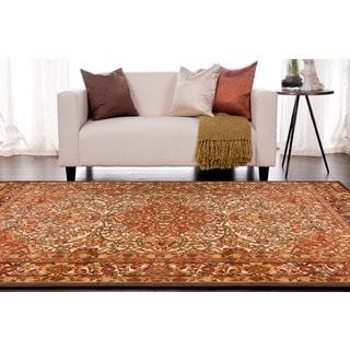 Meticulously Woven Terremoto Traditional Red Oriental Rug (5'2 x 7'6)