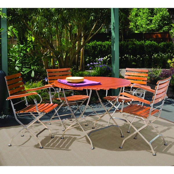 Phat tommy galleria round table and folding armchairs for Garden furniture 70 off