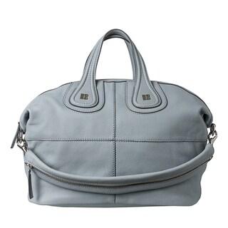 Givenchy 'Nightingale' Medium Pale Blue Leather Satchel