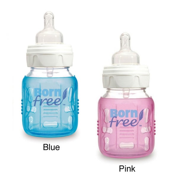 Born Free 5-ounce Wide Neck Glass Baby Bottle with Sleeve